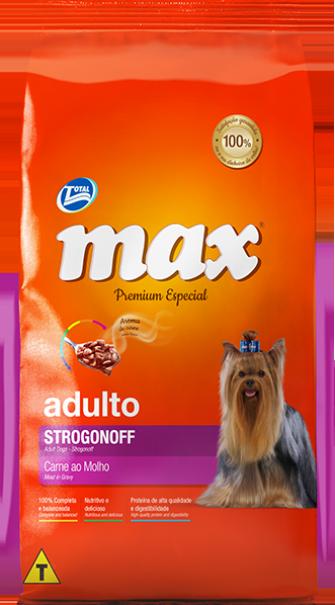 Ração Max Premium Especial - Strogonoff Carne ao Molho