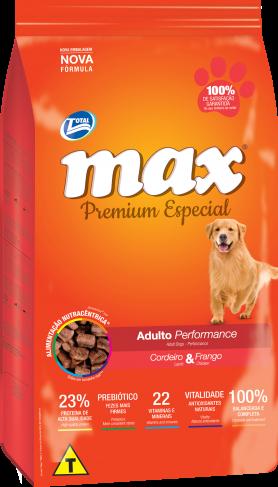 Ra��o Max Performance - Cordeiro e Frango