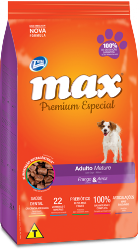 Ra��o Max Premium Especial - Mature Frango & Arroz