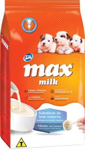Ra��o  Max Milk Substituto do Leite Materno - Filhotes de at� 4 semanas de vida