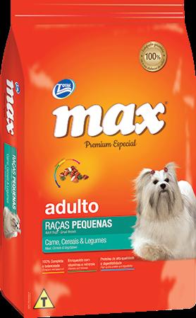 Ra��o Max Premium Especial - Ra�as Pequenas Carne, Cereais & Legumes