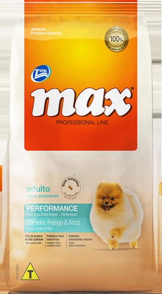 Ração Max Performance Raças pequenas - Cordeiro, Frango e Arroz