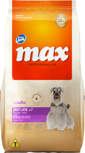 Max Performance Adulto Mature 7+ - Frango e Arroz