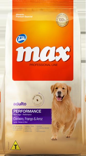 Ração Max Performance Adulto - Cordeiro, Frango e Arroz