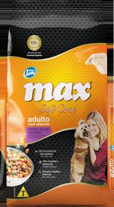 Ração Max Soft Croc Adulto Raças Pequenas, pedaços macios com carne