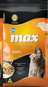 Ração Max Soft Croc Adulto, pedaços macios com carne