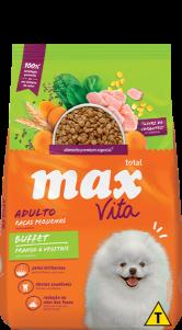 Ração Max Vita Adulto Raças Pequenas Buffet  Frango & Vegetais