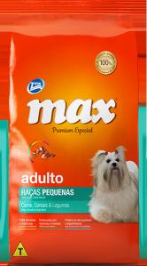 Ração Max Premium Especial Adultos Ra�as Pequenas Carne, Cereais e Legumes