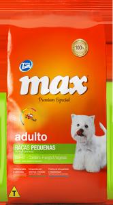 Ração Max Premium Especial Adultos Ra�as Pequenas Buffet:Cordeiro, Frango e Vegetais