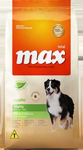 Ração Max Professional Line Vitality Adulto Frango E Vegetais
