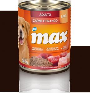 Ração Max Pat� Adultos Carne e Frango