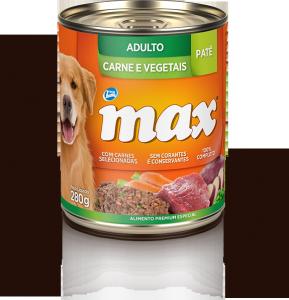 Ração Max Pat� Adultos Carne e Vegetais
