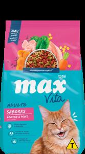 Ração Max Vita Adultos Sabores Frango & Peixe