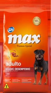 Ração Max Premium Especial Adultos M�ximo Desempenho Carne