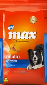 Ração Max Premium Especial Adultos Selection Carne e Frango