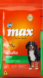 Ração Max Premium Especial Adultos Buffet: Cordeiro, Frango e Vegetais