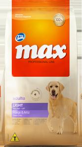 Ração Max Professional Line Adultos Light Frango e Arroz