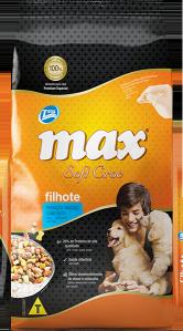 Ração Max Soft Croc Filhotes Peda�os Macios com Leite